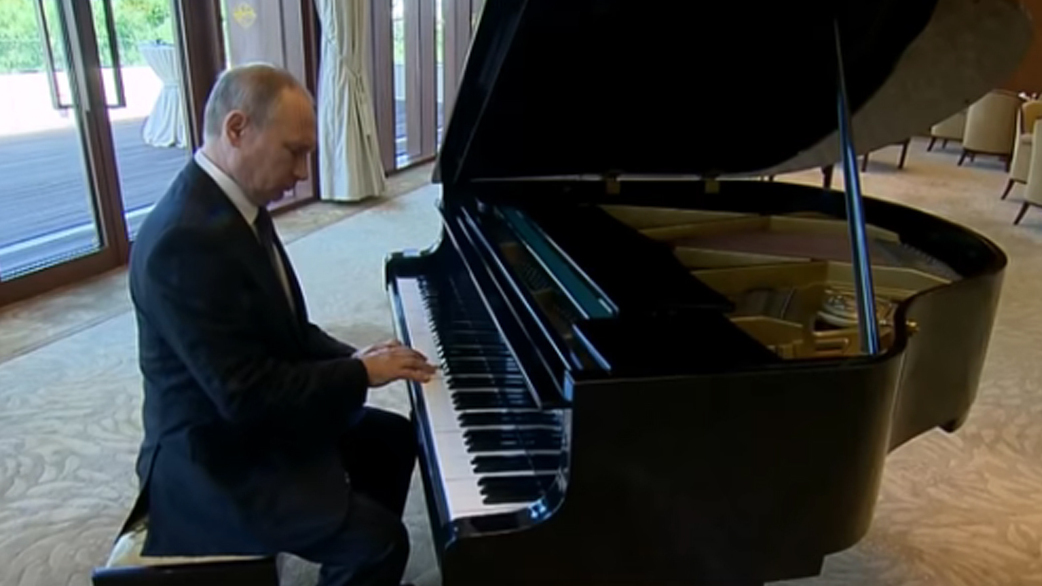 Putin Plays The Piano With Perhaps Unintentional Undertones Two Way NPR