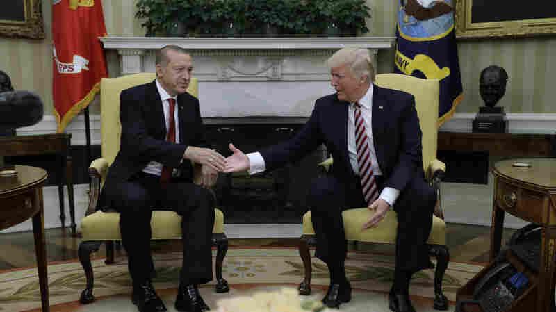 Turkish Leader Calls Trump His 'Dear Friend,' Despite Decision To Arm Syrian Kurds