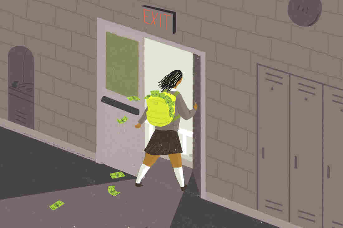 School vouchers take kids and money away from public school.