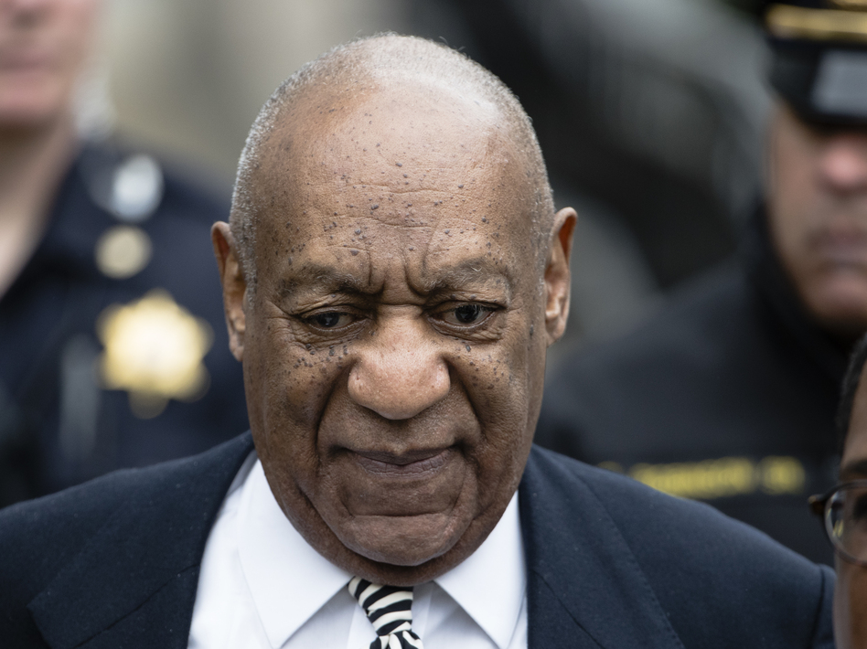 Bill Cosby leaves after a pretrial hearing in his sexual assault case last month at the Montgomery County Courthouse in Norristown, Pa. (Matt Rourke/AP)
