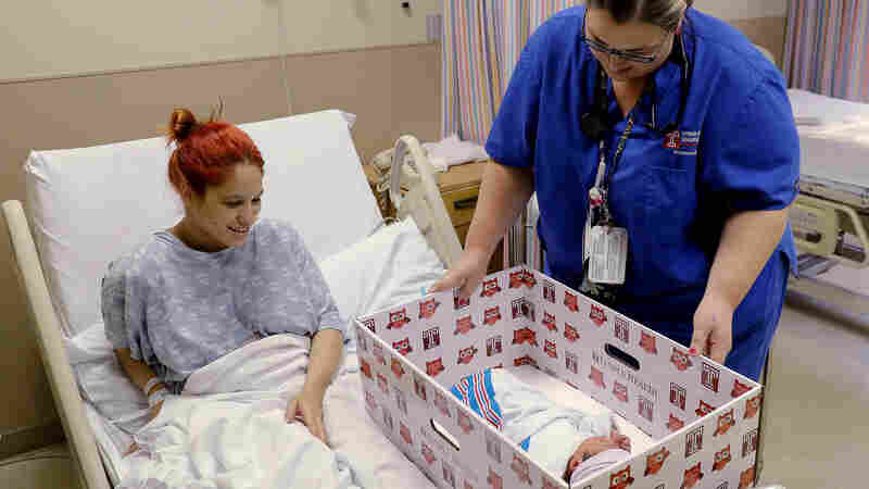 Face-To-Face Sleep Education Plus 'Baby Boxes' Reduces Bed Sharing