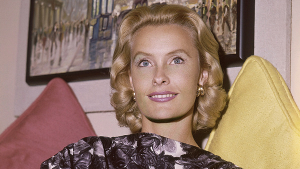 Actress Dina Merrill poses at home in Hollywood, Calif., on Sept. 20, 1960. Merrill died on Monday at her home in East Hampton, N.Y.. She was 93.