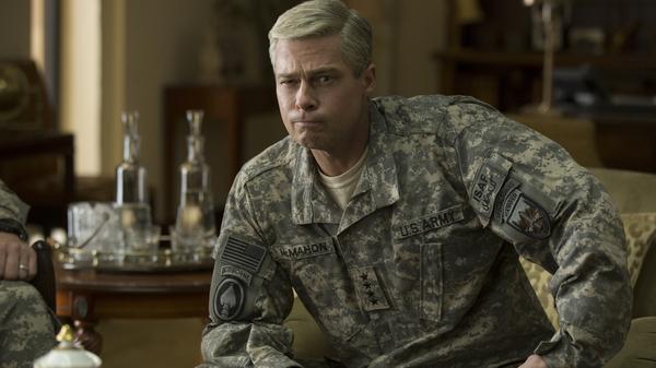 Brad Pitt in War Machine.