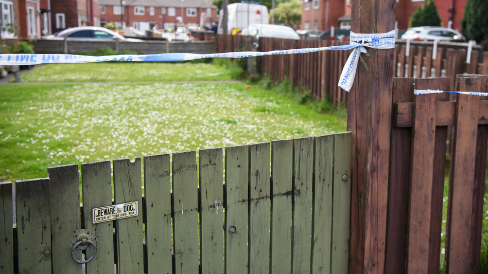Forensic teams search the Manchester, England, neighborhood of Salman Abedi, the deceased suspect in Monday's bombing of an Ariana Grande concert. (Leon Neal/Getty Images)