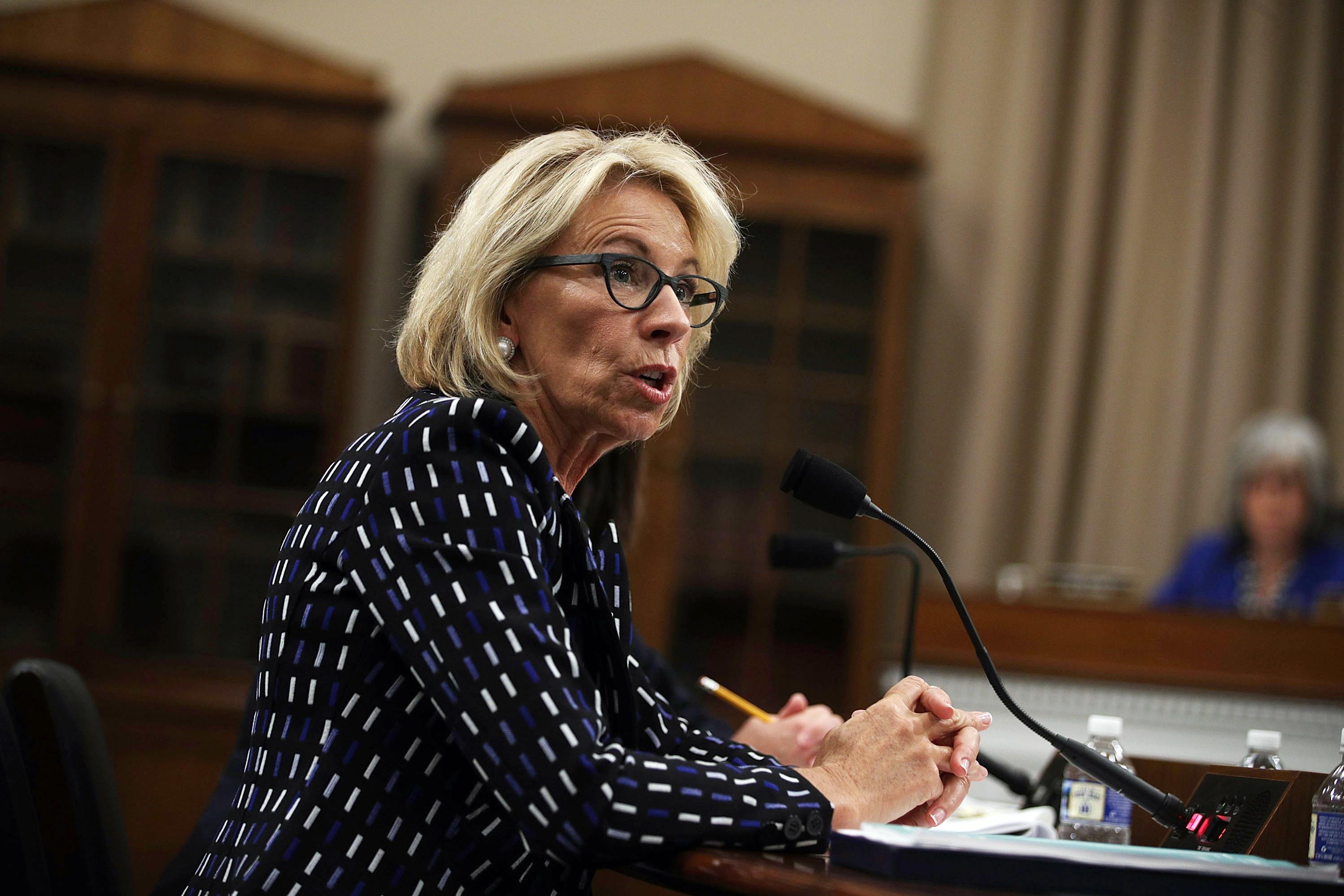 Education Department Faces Deep Cuts; DeVos Faces Tough Questions