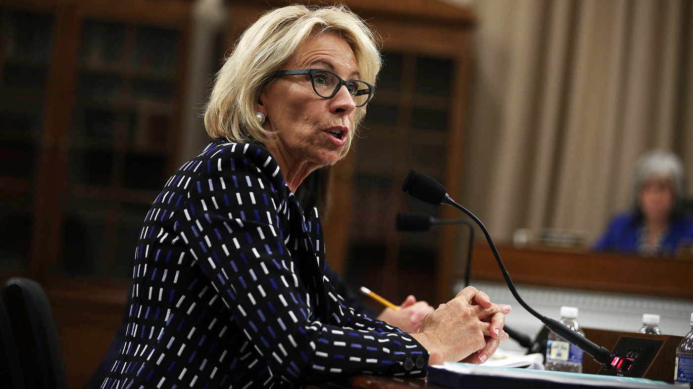 Education Department Faces Deep Cuts; DeVos Faces Tough Questions