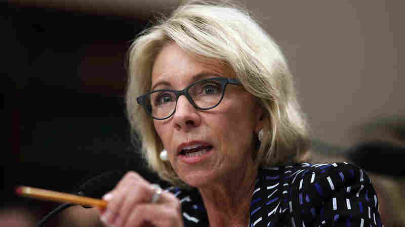 Here's What Betsy DeVos Said Wednesday On Capitol Hill