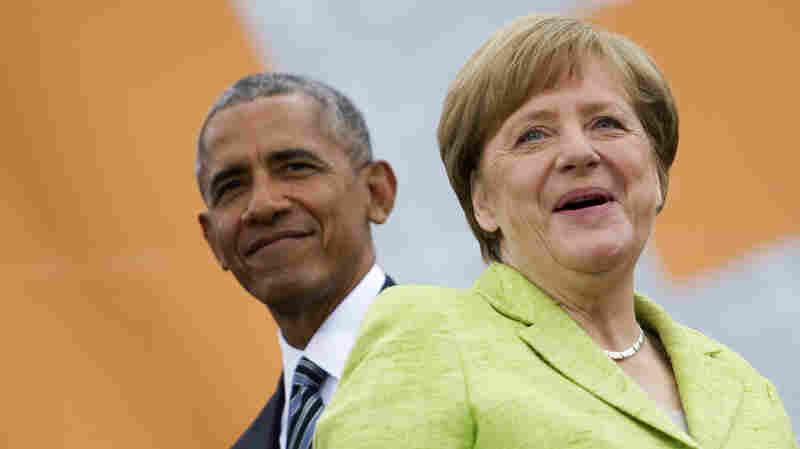 As Trump Slams NATO Allies, Obama Defends 'International Order'