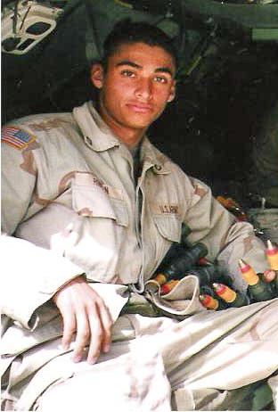 Army Pfc. Diego Rincon during his time in Iraq in 2003. (Courtesy of the Rincon Family)
