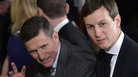 Then-national security adviser Michael Flynn (left) and Jared Kushner, senior White House adviser and the president's son-in-law, in the East Room of the White House on Feb. 13.