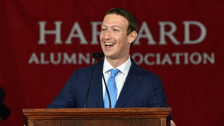 "Mark Zuckerberg told graduates to pursue ""big meaningful projects."" (Paul Marotta/Getty Images)"