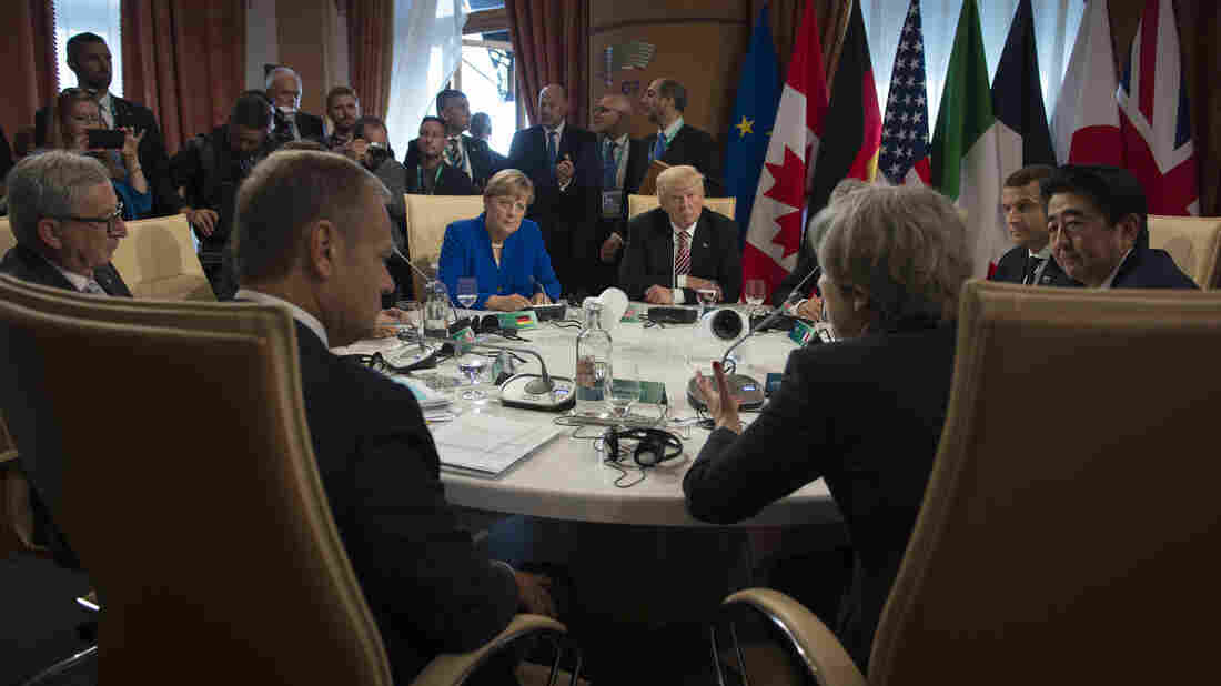 World leaders lobby Trump on climate change at G7