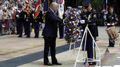 Trump Honors Fallen Warriors At Arlington National Cemetery