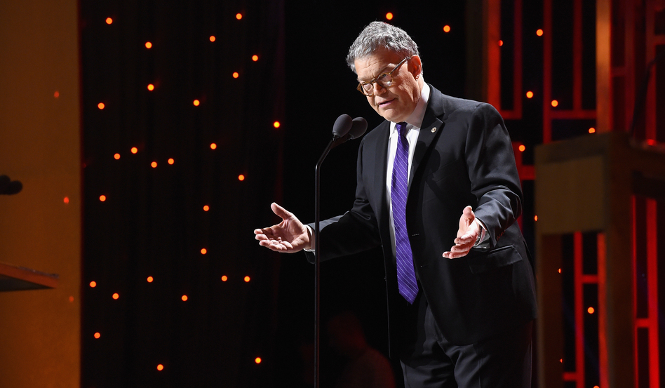 Sen. Al Franken, shown during the Peabody Awards ceremony in New York City on May 20, talks about running for office in his new book.