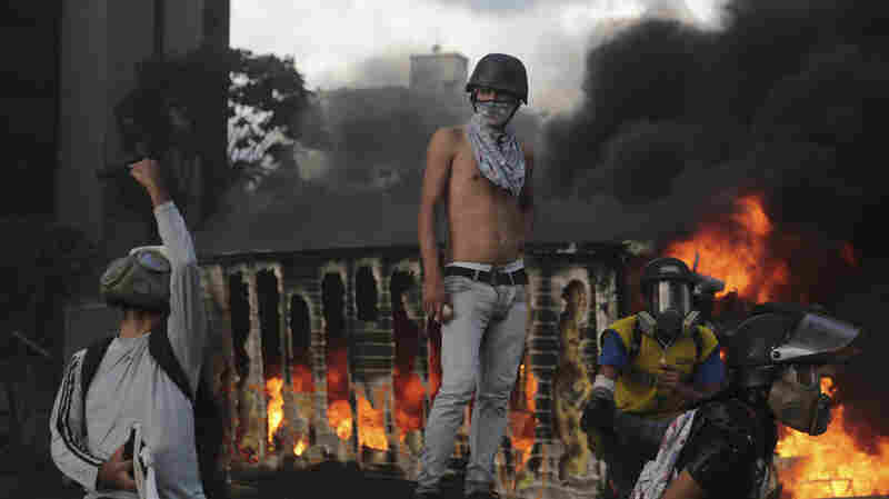 As Venezuela Enters 3rd Month Of Protests, Anti-Maduro Ire Finds New Target