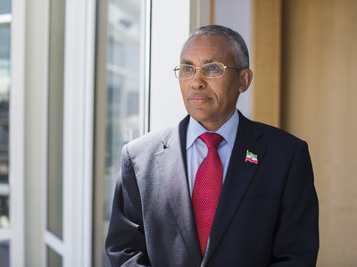 """The only thing that's missing is the sovereign recognition,"" says Saad Ali Shire, foreign minister of Somaliland.  Shuyao Chen/NPR"