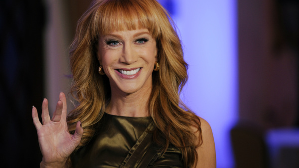 Kathy Griffin has apologized for images of her holding a model of President Trump