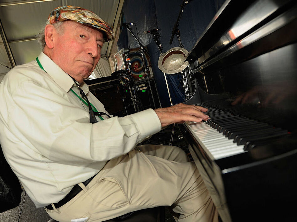 George Wein, backstage at the New Orleans Jazz & Heritage Festival in May 2012. (Rick Diamond/Getty Images)