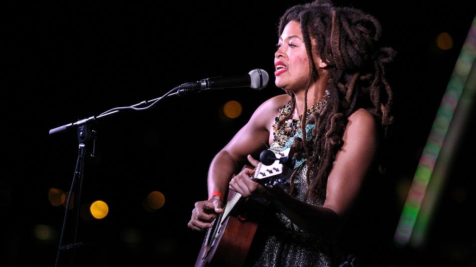 Valerie June performs during the 2015 AmericanaFest in Nashville, Tenn.