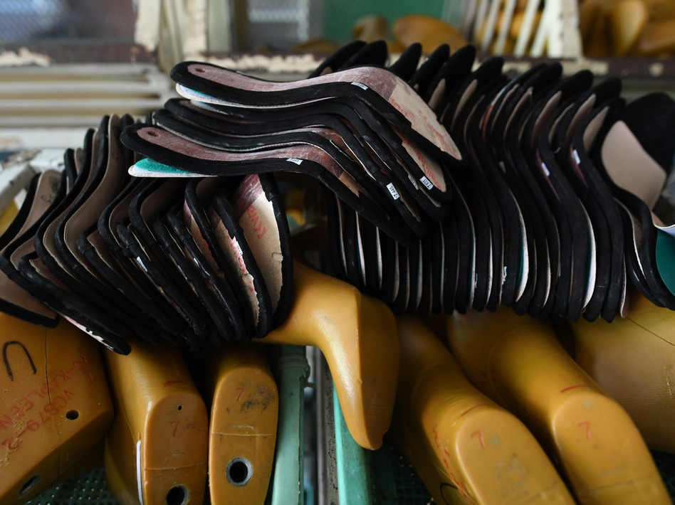 A Huajian shoe factory, which has been investigated by labor activists, makes Ivanka Trump-branded shoes, among others, in China. (Greg Baker/AFP/Getty Images)