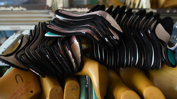 Equipment at a Huajian shoe factory in China