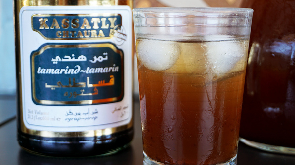 Favorite Ramadan drinks vary by country. In Jordan and Lebanon, tamer hindi, a tamarind-based beverage (seen above), is often offered alongside qamar al-deen, a thick apricot nectar.