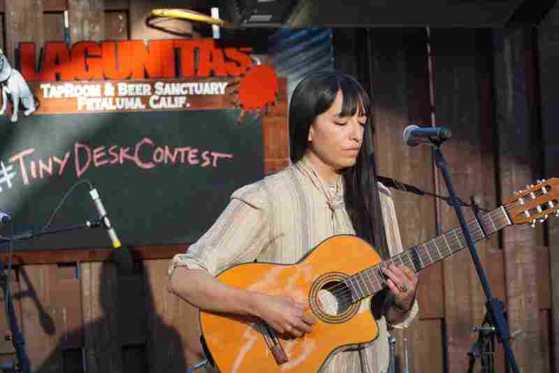 Three-time entrant Diana Gameros played at our Tiny Desk Contest showcase in Petaluma, Calif.