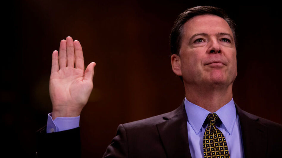 Then-FBI Director James Comey testified in front of the Senate Judiciary Committee during an oversight hearing on the FBI on May 3. (Eric Thayer/Getty Images)