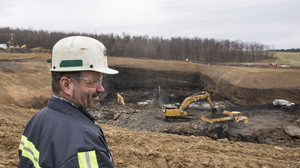Rob Bottegal, head engineer of the Acosta Deep Mine for Corsa Coal Corp., overlooks the mine in Jennerstown, Pa., on Feb. 28.
