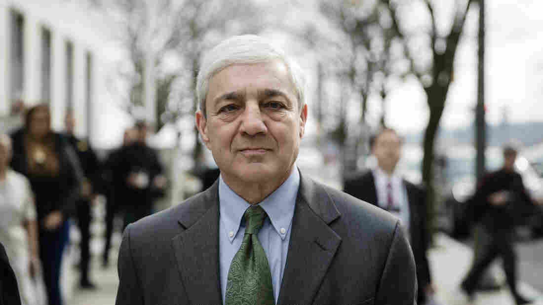 Former Penn State president gets jail time for failing to report Sandusky
