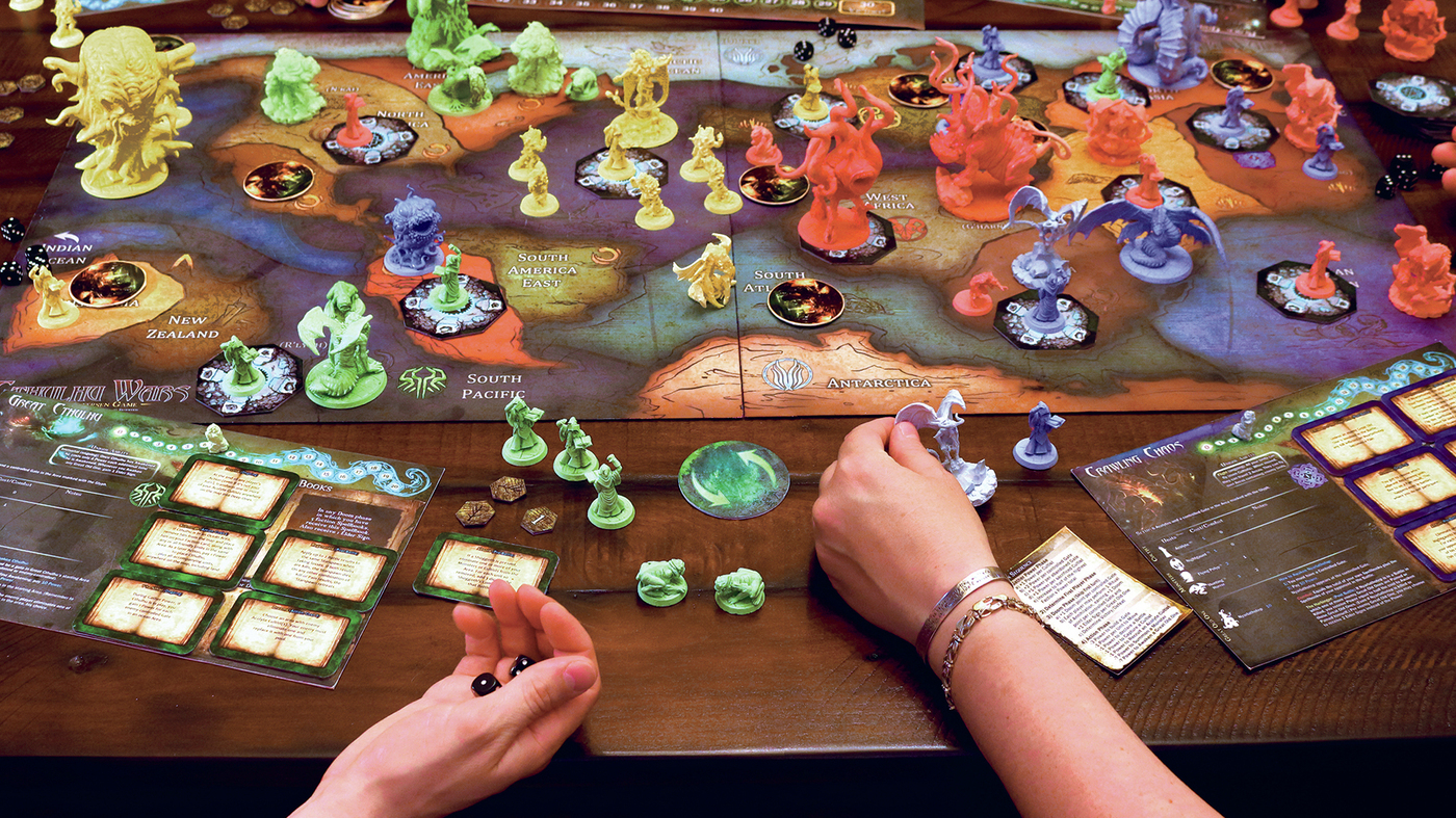 H P Lovecraft Inspired Board Games Cthulhu Mythos Is Wrapping Family Game Night Up In
