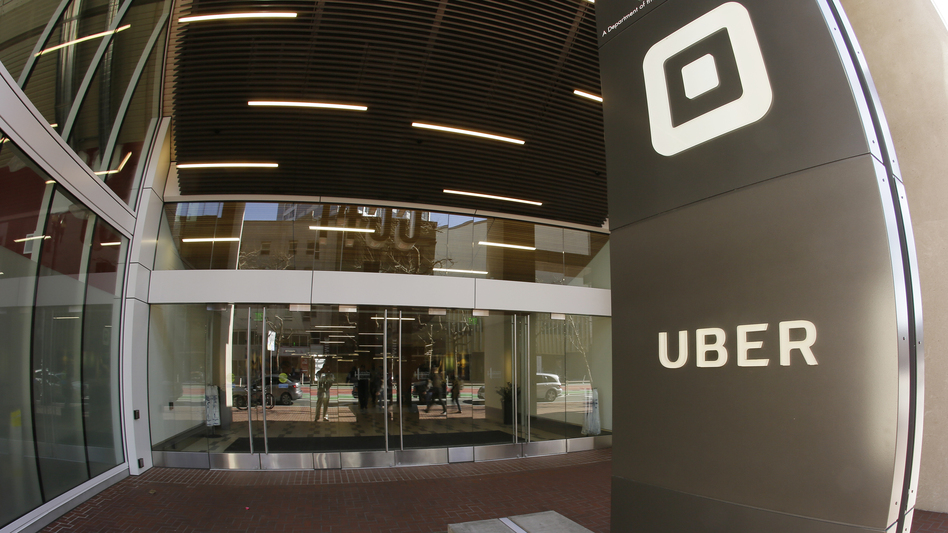 Uber's San Francisco headquarters earlier this year. The company fired 20 employees after an investigation of sexual harassment and other complaints. (Eric Risberg/AP)