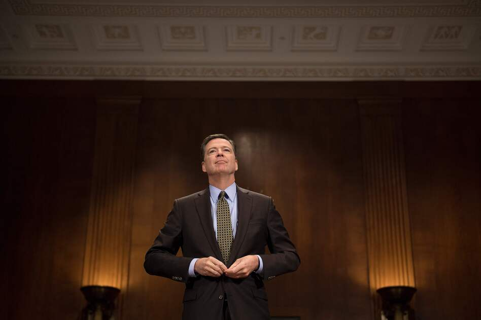 Then-FBI Director James Comey prepares to testify before the Senate Judiciary Committee on Capitol Hill on May 3. (Jim Watson/AFP/Getty Images)