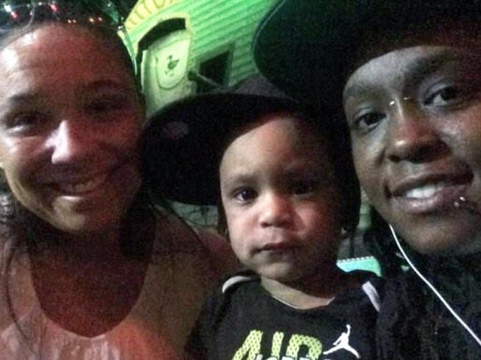 Emily Addison (left) and Deonka Drayton with their son. (Courtesy of Emily Addison)