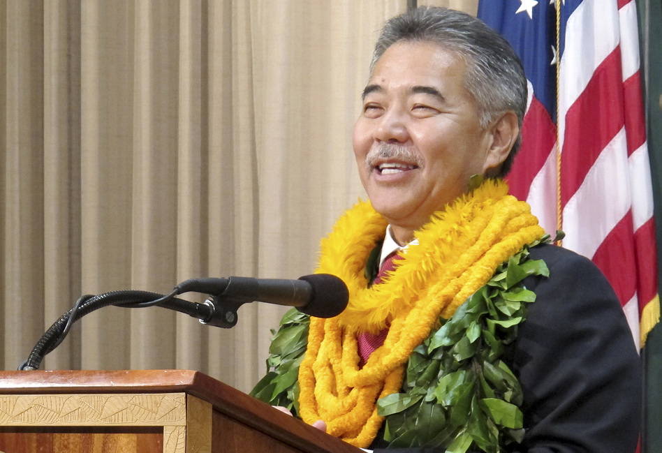 Hawaii Gov. David Ige, shown here in 2014, has signed a bill to implement goals of the Paris Agreement in his state.
