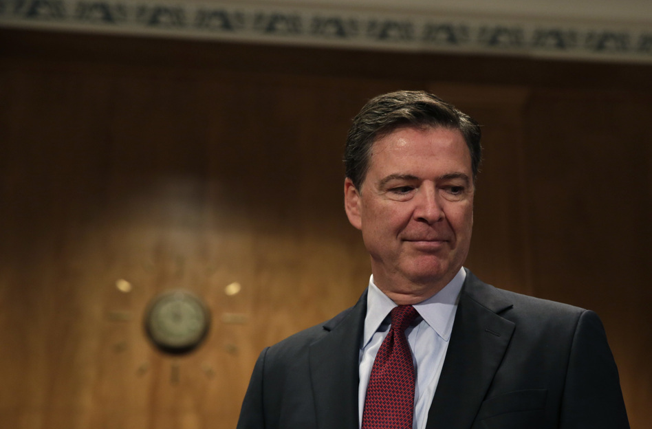 Former FBI Director James Comey is testifying on Thursday before the Senate Intelligence Committee. His opening statement was released on Wednesday. (Yuri Gripas/AFP/Getty Images)
