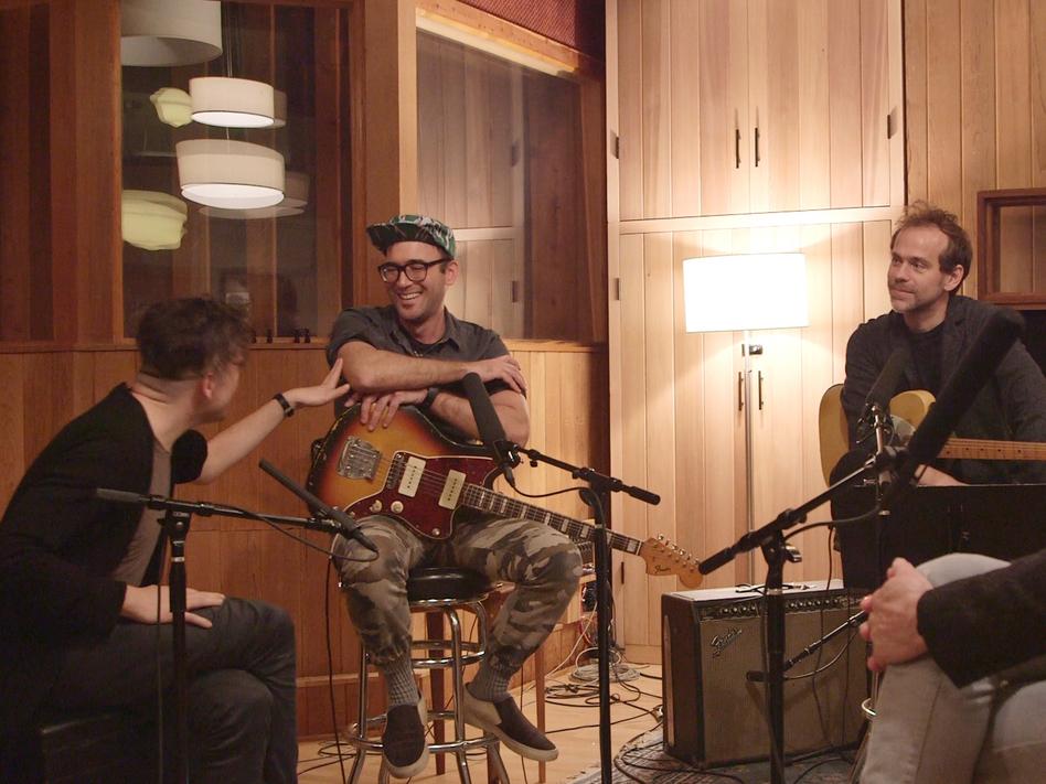 Nico Muhly, Sufjan Stevens and Bryce Dessner talking with NPR Music's Bob Boilen