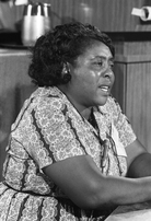 "Fannie Lou Hamer, the famed voting rights activist from Mississippi, pictured here in 1964, also became what we would call a ""food sovereignty"" activist."