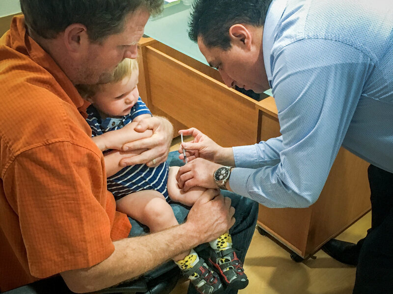 A Father Takes His Son To The Doctor And Discovers Fear : Shots