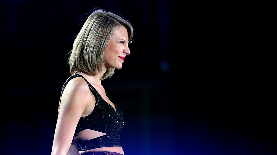 Taylor Swift performs during her <em>1989</em> world tour.