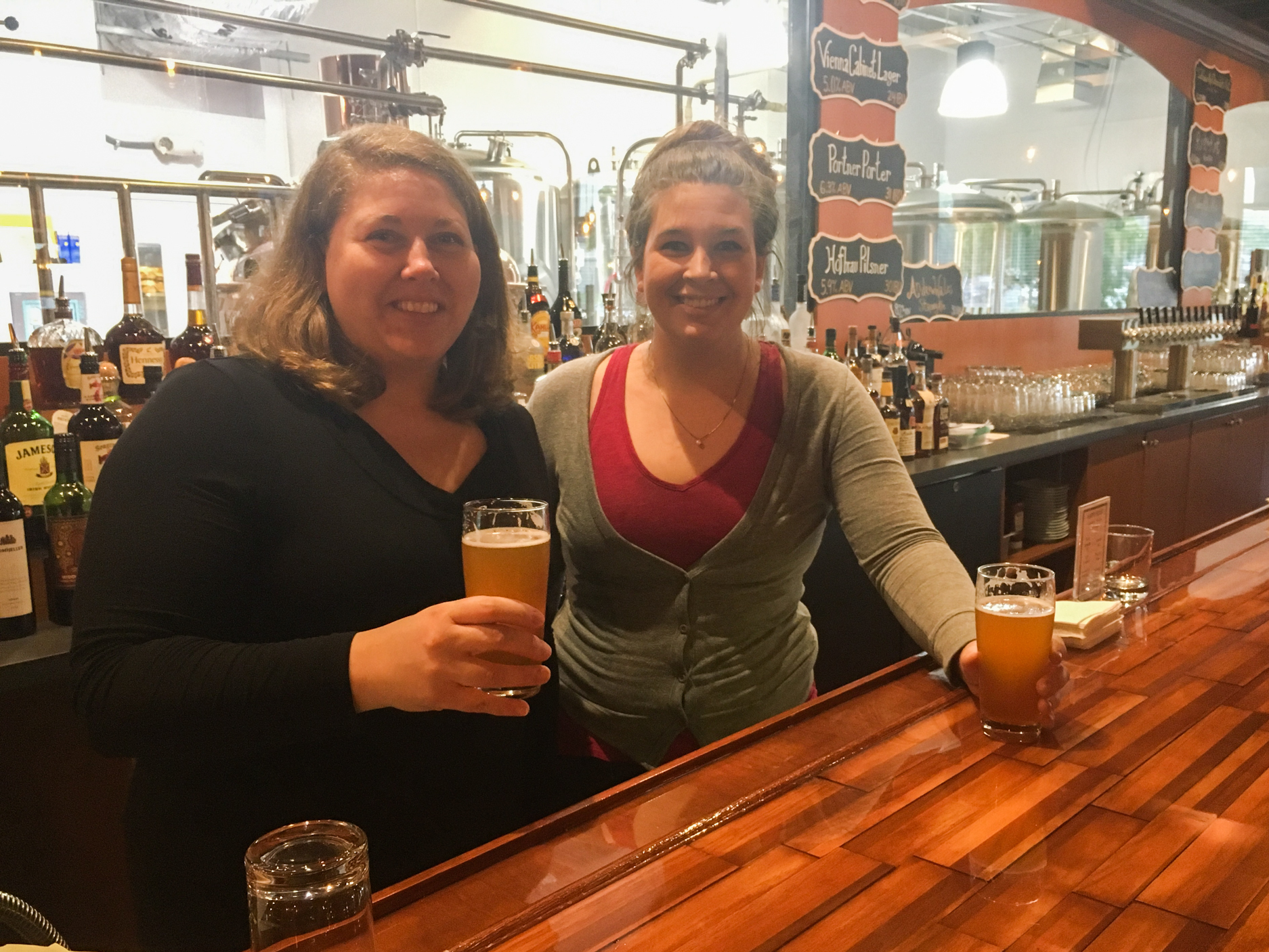 Sisters Catherine (left) and Margaret Portner have re-established Portner's Brewery, which was opened in Alexandria, Va., in 1869 by their great-great-grandfather, then closed during Prohibition. (Ari Shapiro/NPR)