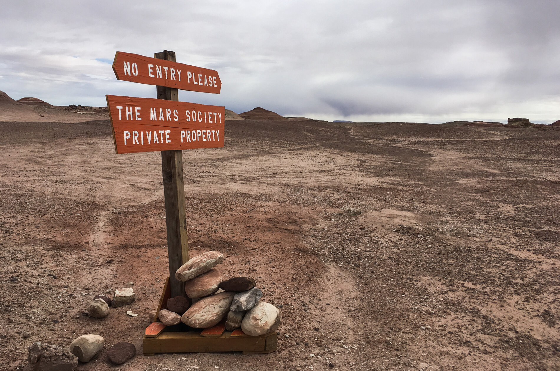 The desert research station near Hanksville, Utah, is one of two such simulation habitats owned and operated by the nonprofit Mars Society.     (Rae Ellen Bichell/NPR     )