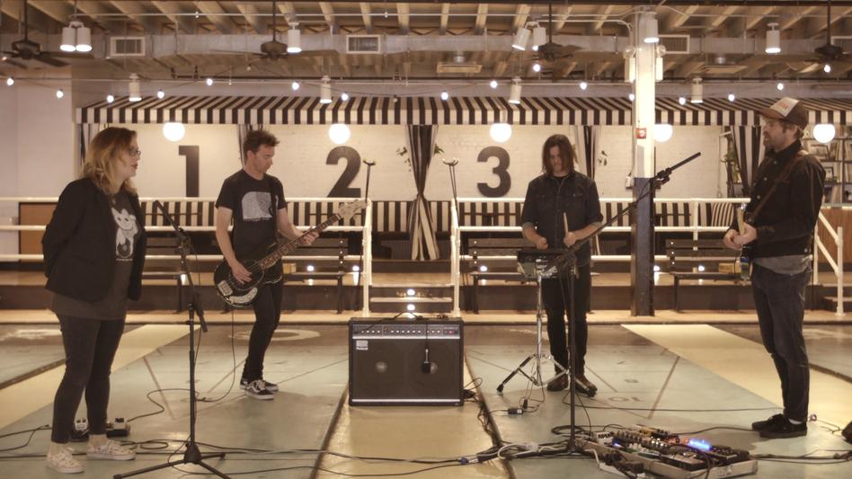 Slowdive plays a Field Recording at Royal Palms Shuffleboard Club in Brooklyn, N.Y.