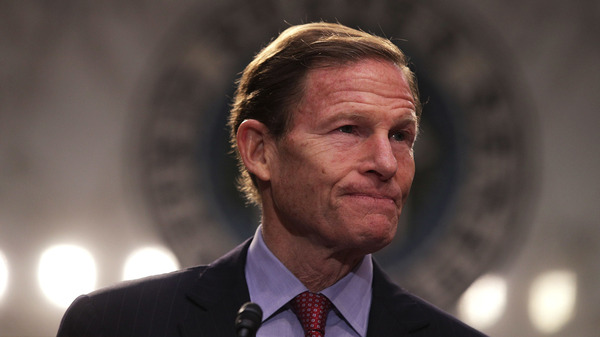 Sen. Richard Blumenthal, D-Conn., is among more than 190 Democrats who are suing President Trump over his business deals involving foreign governments.