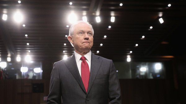 Attorney General Jeff Sessions appears before the Senate Intelligence Committee on Tuesday.