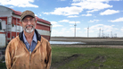 Steven Somsen, who lives near a new wind farm in Courtenay, N.D., has three turbines on his land.