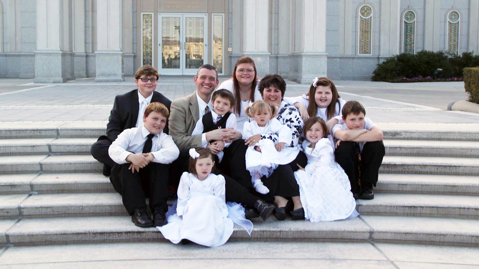 Dawn Poole and her husband have to regularly document their family finances to make sure their nine children, who all have complex health conditions, continue to qualify for Medicaid. (Courtesy of the Poole family)