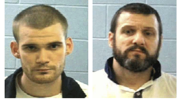 This combo of undated photos provided by the Georgia Department of Corrections shows inmates Ricky Dubose, left, and Donnie Russell Rowe.