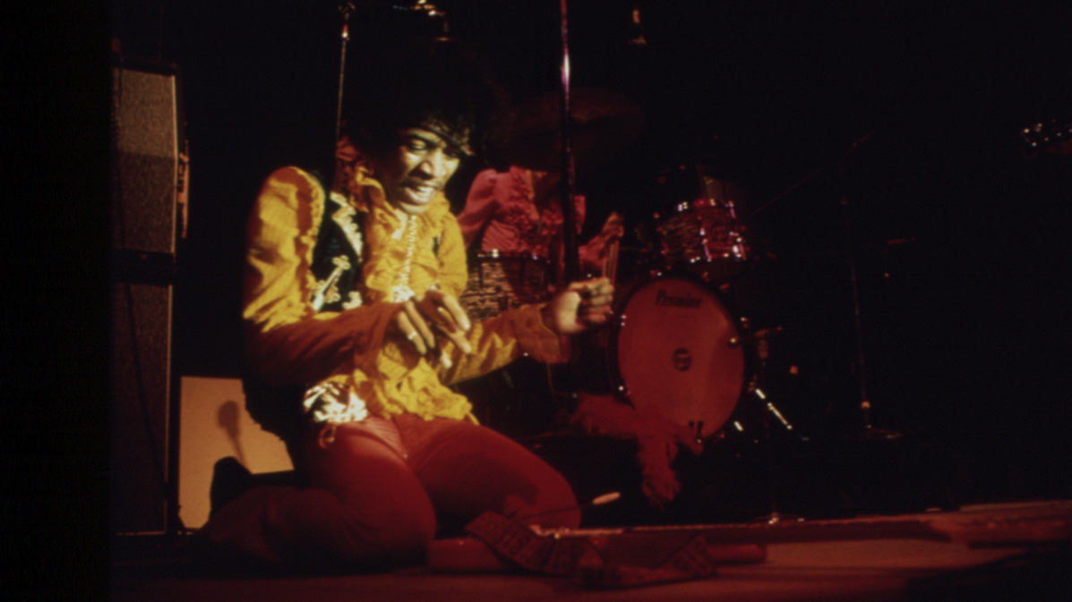 Jimi Hendrix Burning Guitar