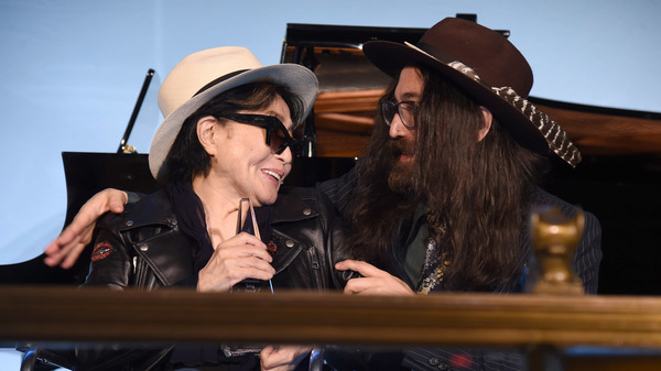 "Yoko Ono, accompanied by son Sean Lennon accepted the Centennial Song award for ""Imagine"" at a National Music Publishers Association event Wednesday in New York."